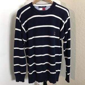 Tommy Hilfiger Striped Crewneck Sweater Small